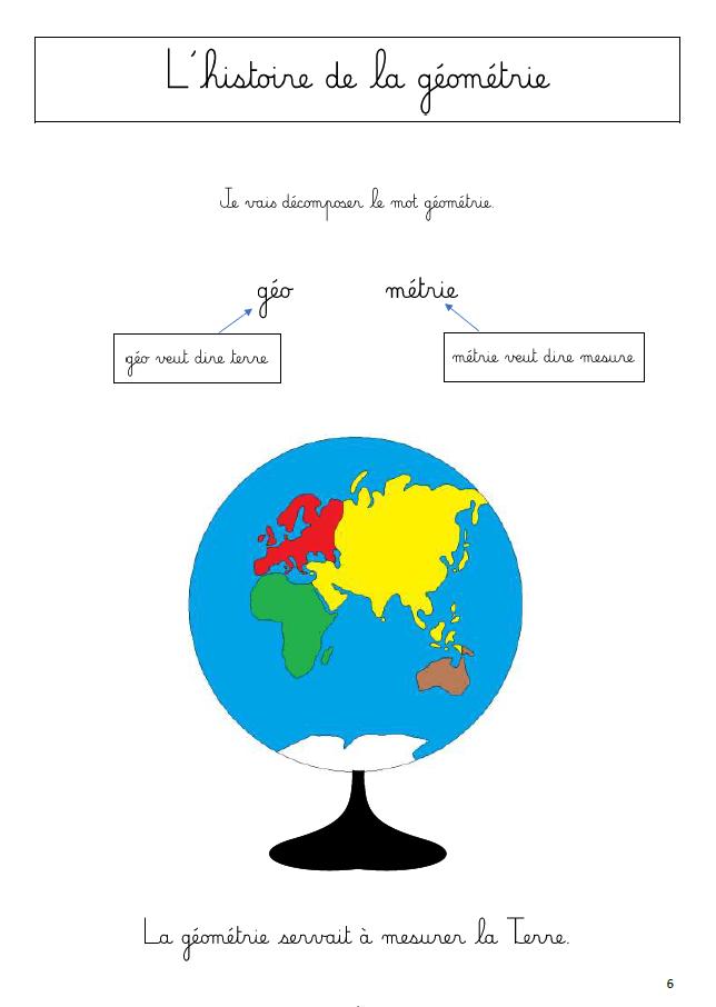 montessori geometrie